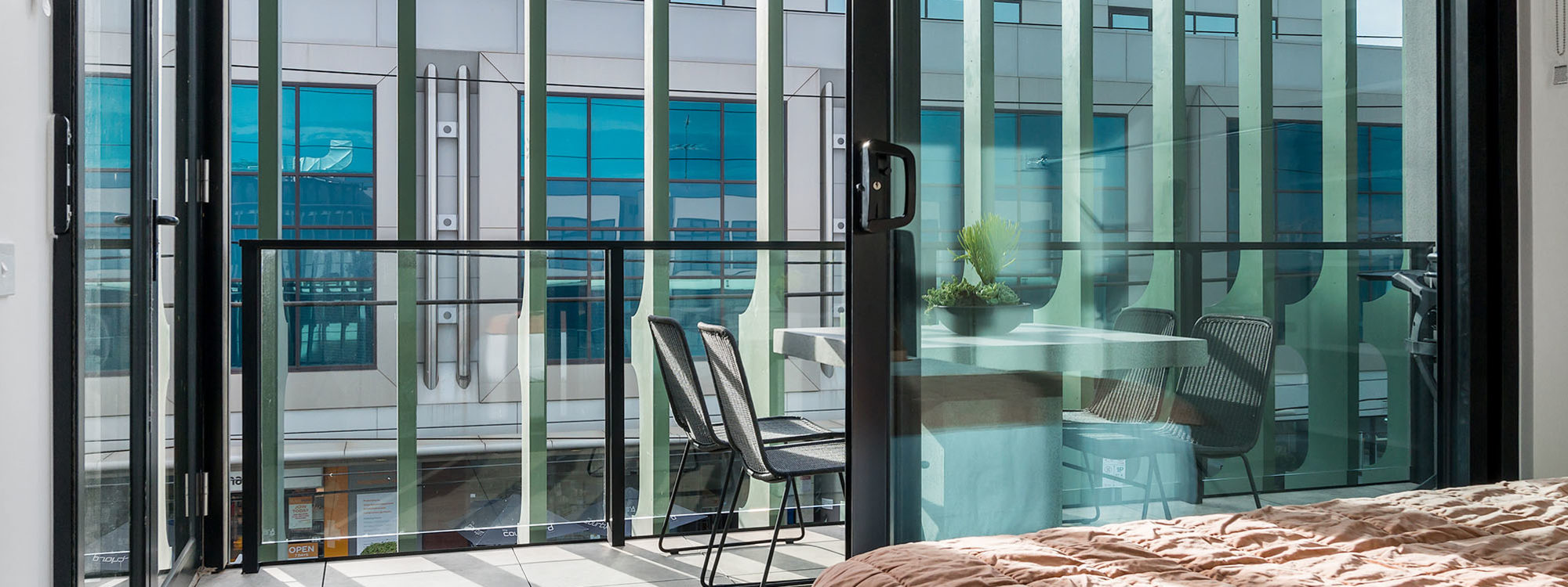 Axel Apartments - The Clarke - Glen Iris - Master Bedroom towards Balcony