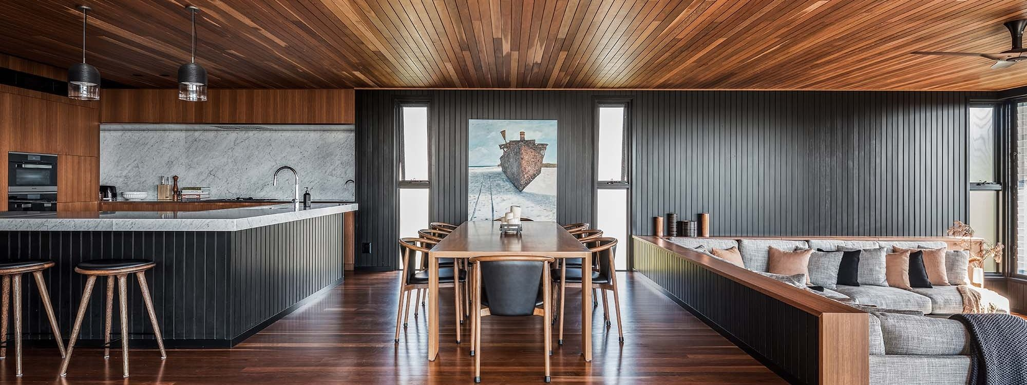 Bay Rock House - Byron Bay - Kitchen, Dining and Living Areas