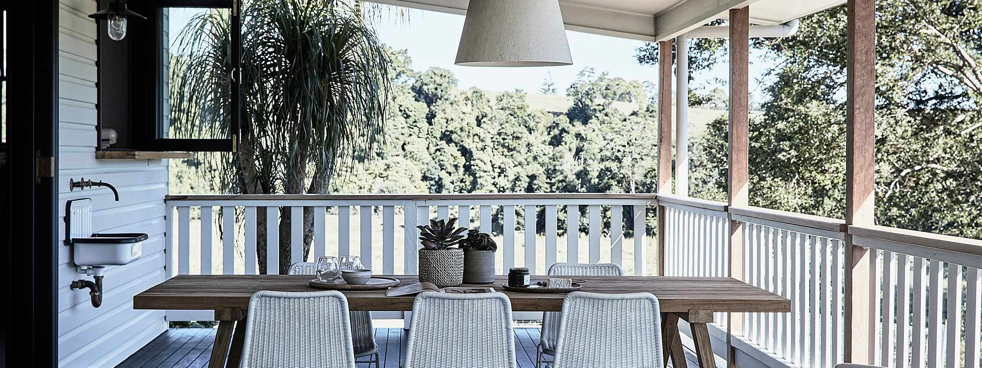 Bennys Cottage - Byron Bay - Real Living Shoot Outdoor Dining Table