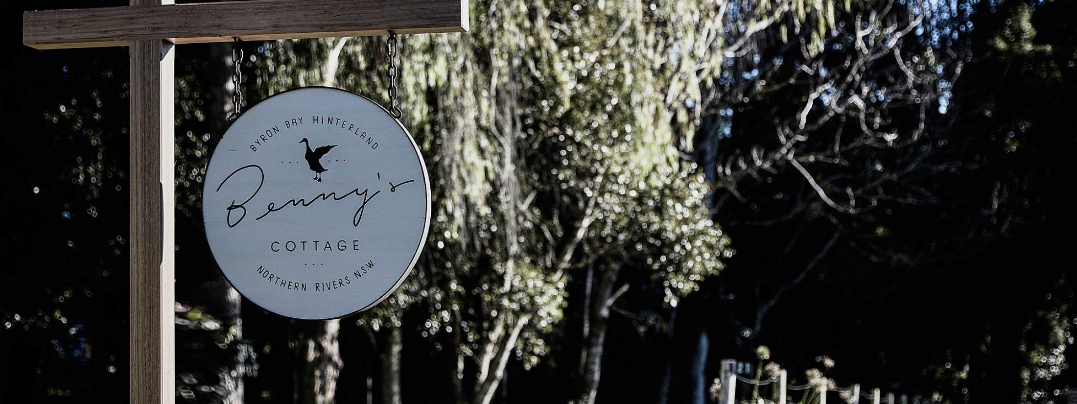Bennys Cottage - Byron Bay - Real Living Shoot Sign