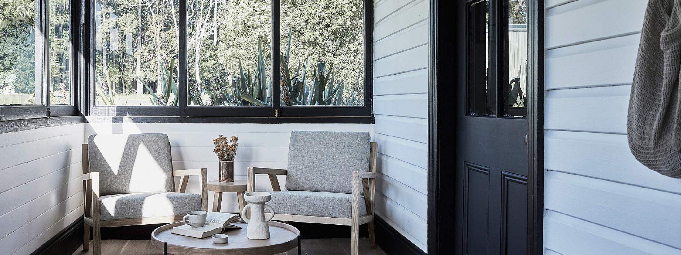 Bennys Cottage - Byron Bay - Real Living Shoot Veranda Seating