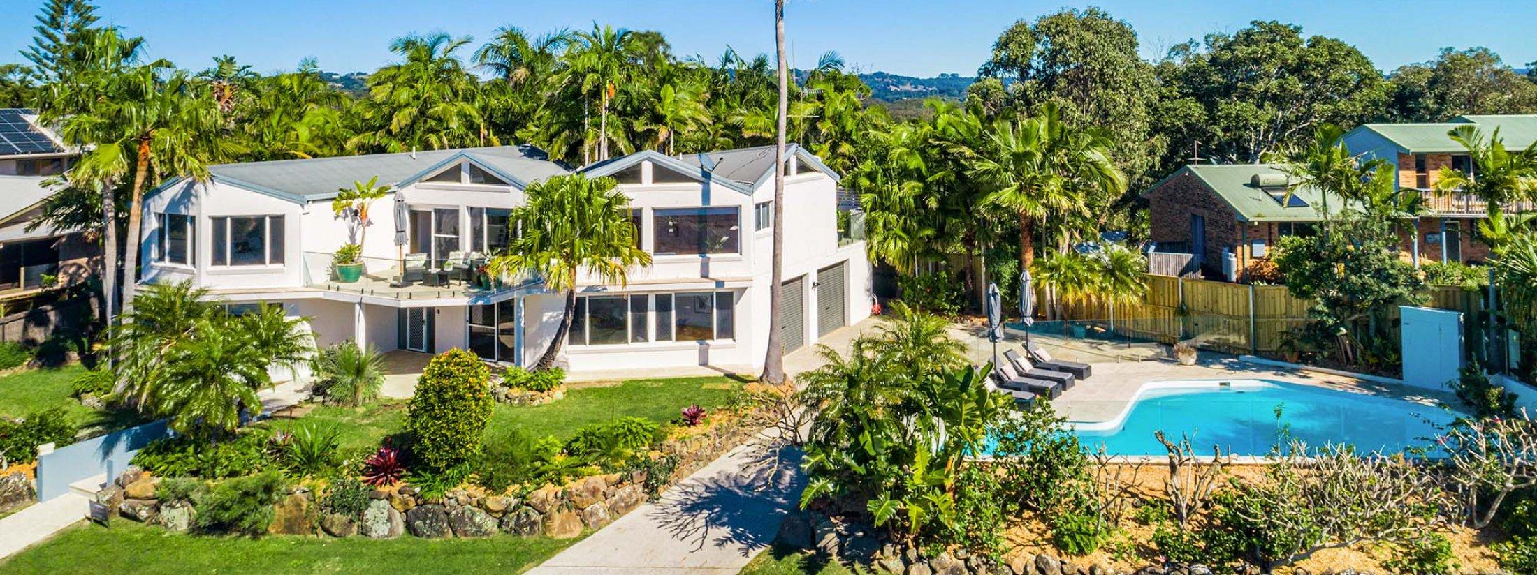 Byron Pacific Vista - Byron Bay - Aerial towards House