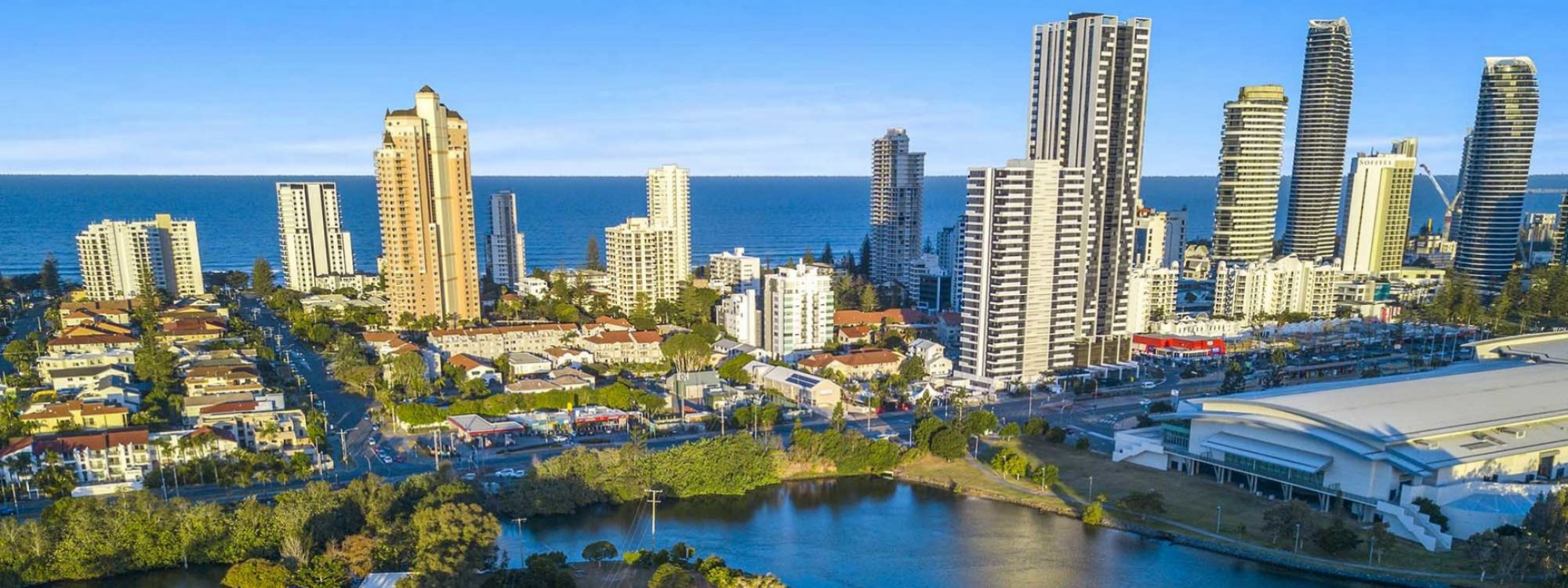 Casa Grande - Broadbeach Waters - Aerial Towards Broadbeach and Convention Centre b