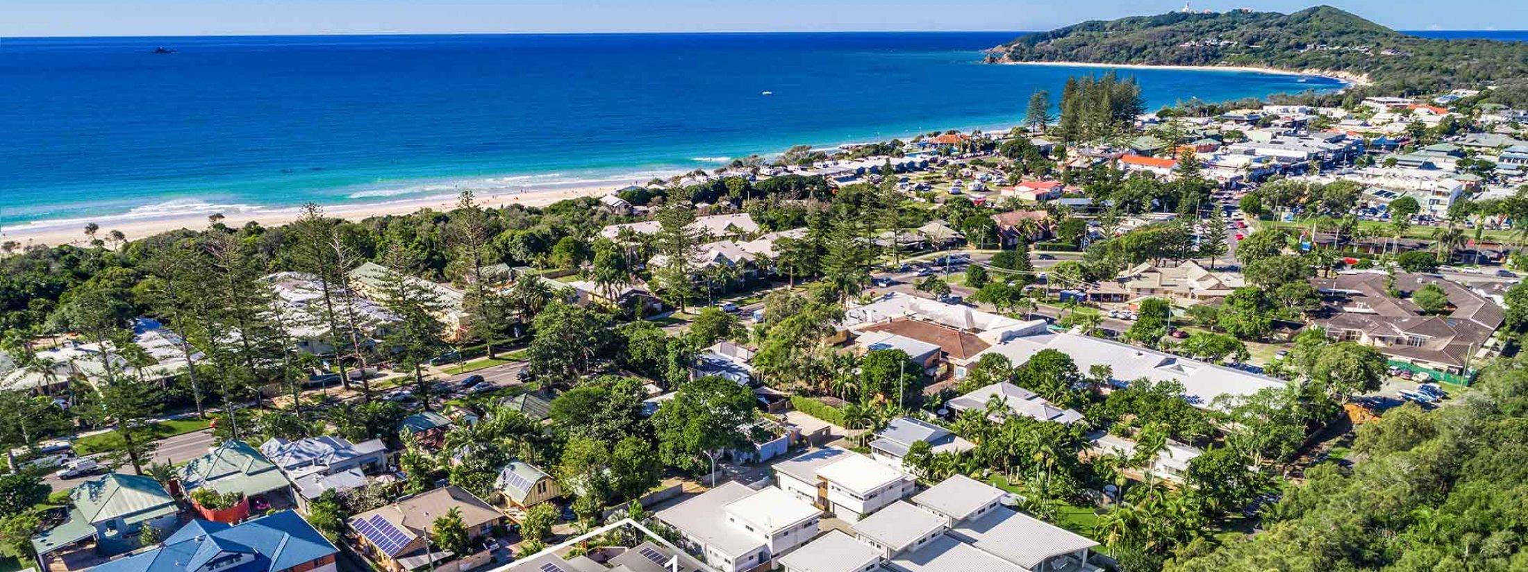 Clique 3 - Byron Bay - Aerial Towards Cape Byron Outline