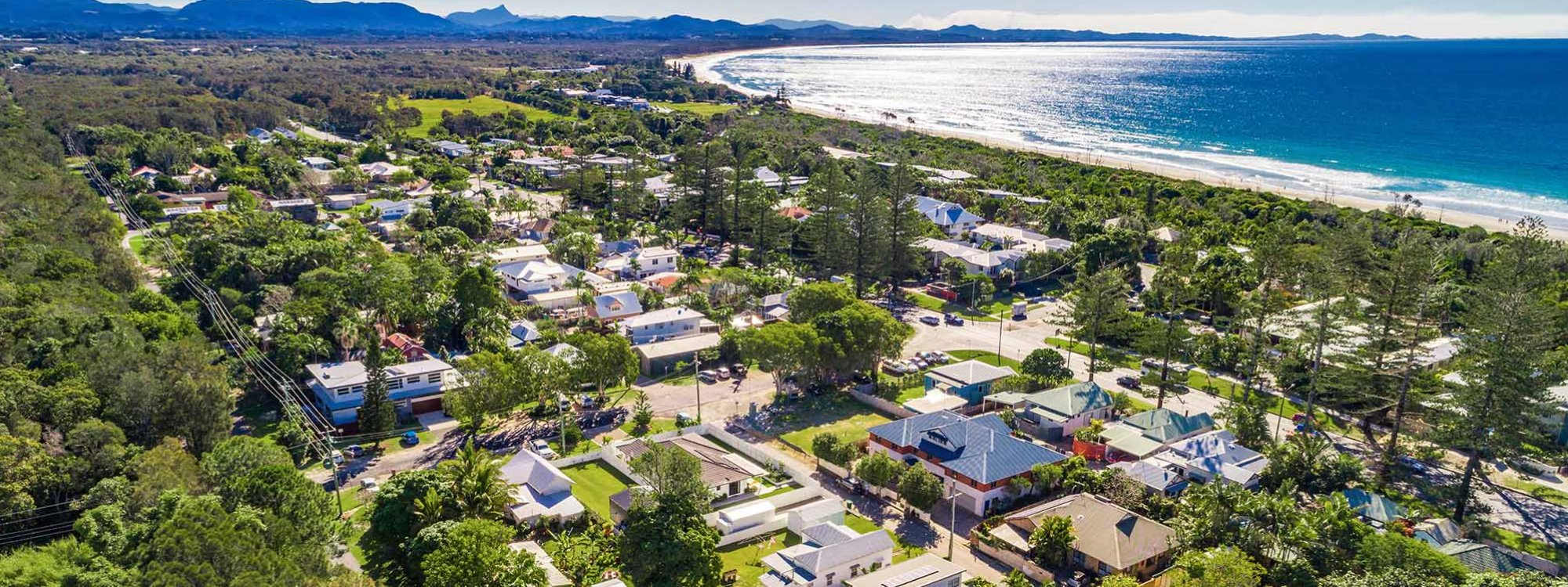 Clique 3 - Byron Bay - Aerial Towards North
