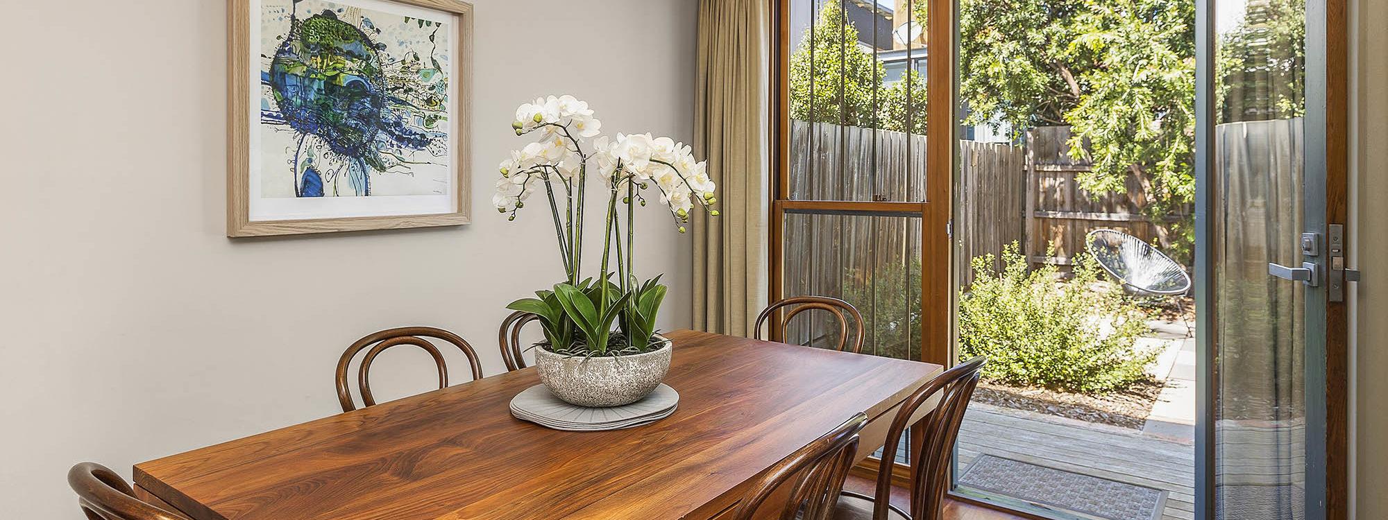 Curran Terrace - North Melbourne - Dining and Rear Courtyard