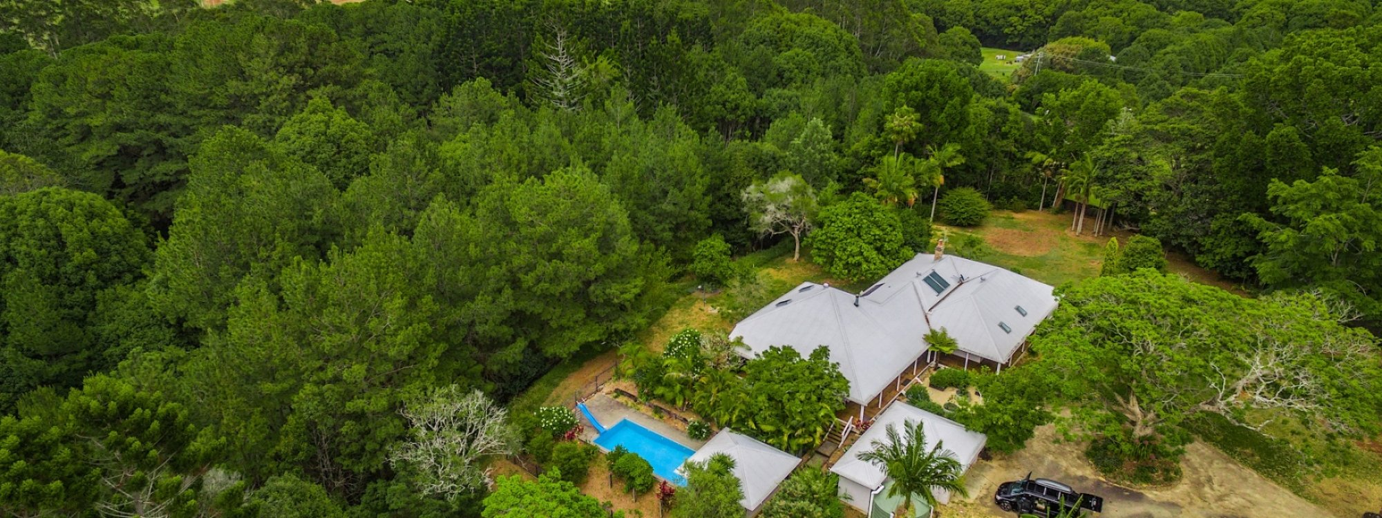 Byron Creek House - Ariel View