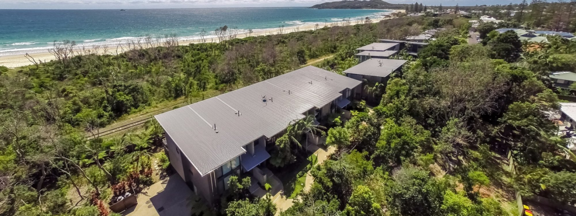 Kiah Beachside - Belongil Beach - Byron Bay - Aerial View
