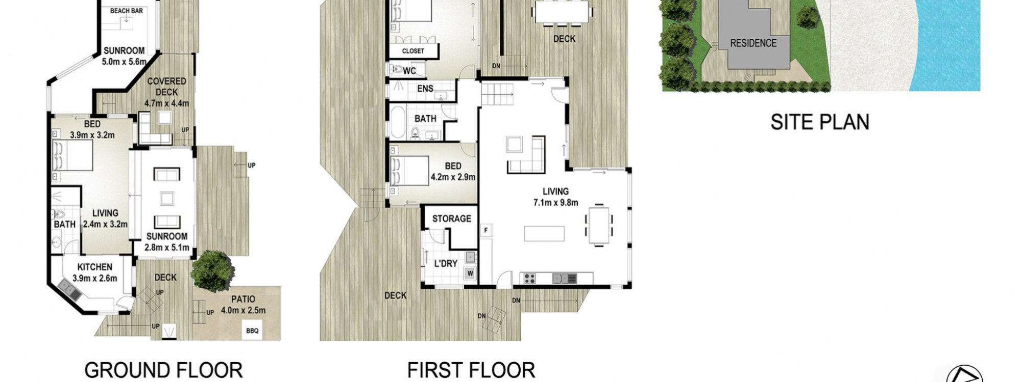 Moonstruck - Byron Bay - Floor Plan