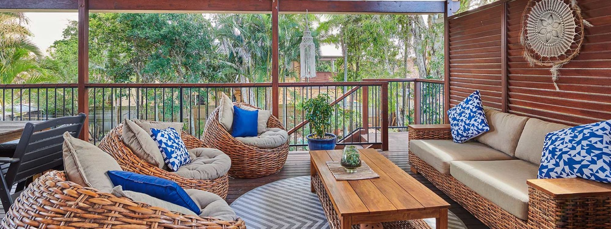 Sea Breeze - Lennox Head - Back Deck to Garden