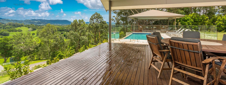 Serene Myocum - Byron Bay - Covered Outdoor Deck