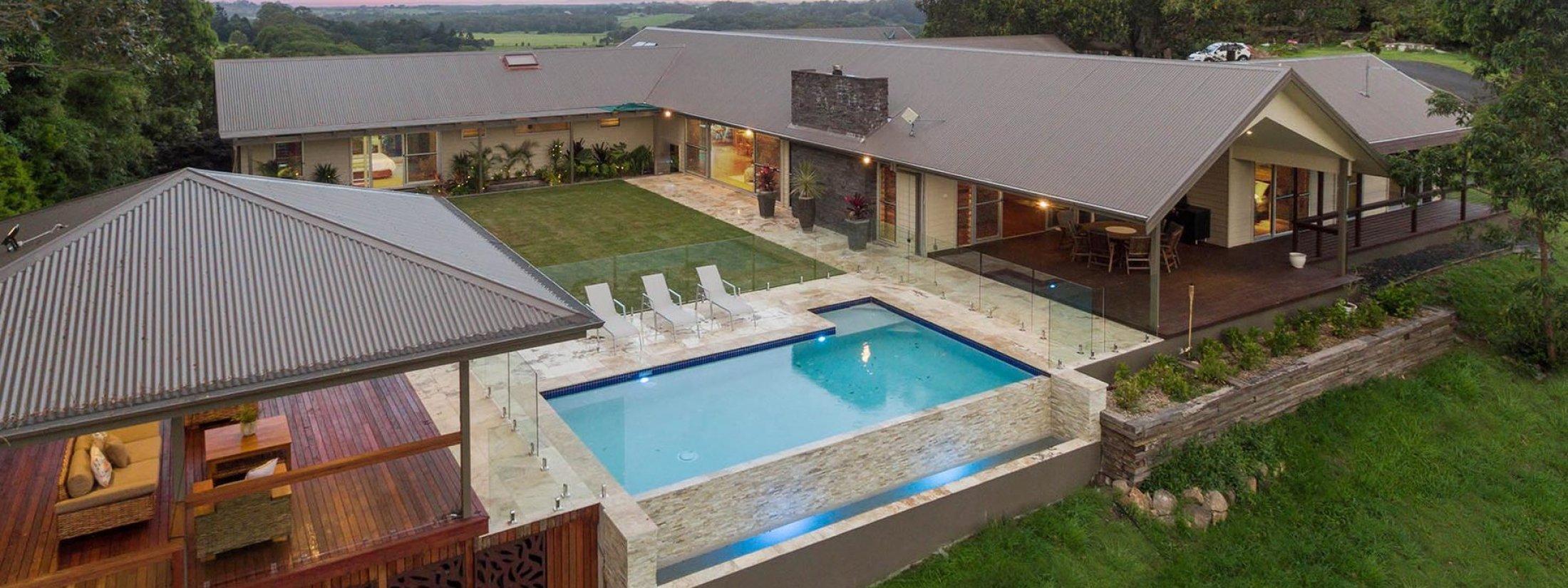 Serene Myocum - Byron Bay - House Pool and Cabana c