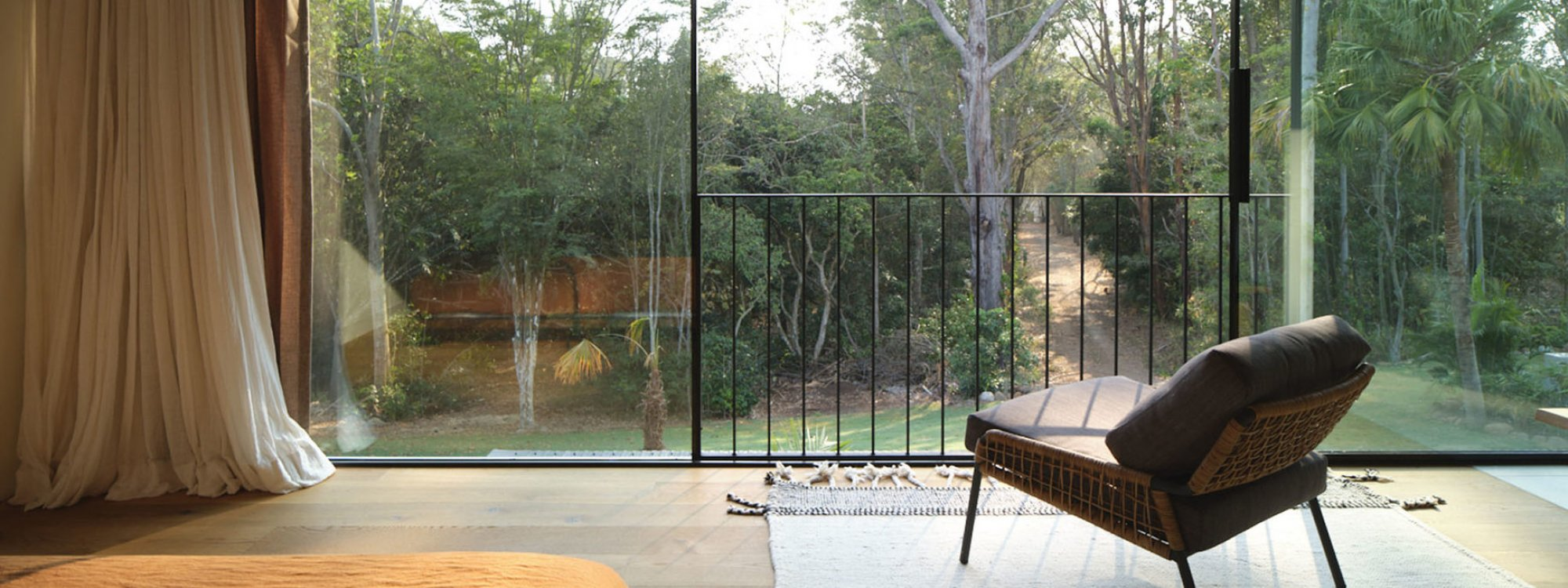 Soma - Byron Bay - View from Upstairs Bedroom towards Yoga Dome