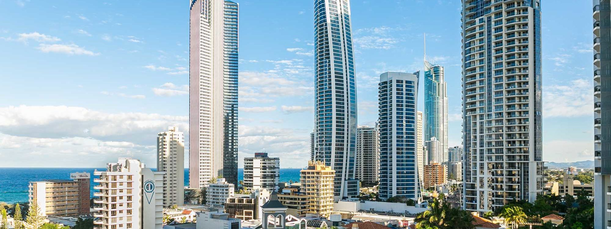 Surf Moon - Surfers Paradise - View from Main Balcony South