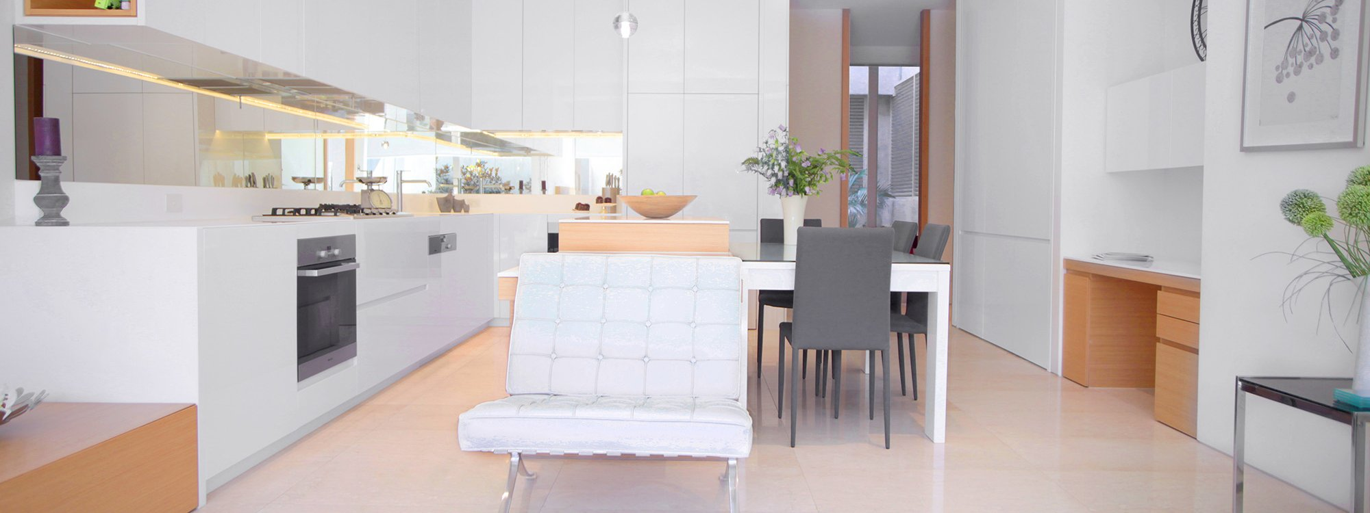 The Residence - Brighton - Living, Dining and Kitchen Area