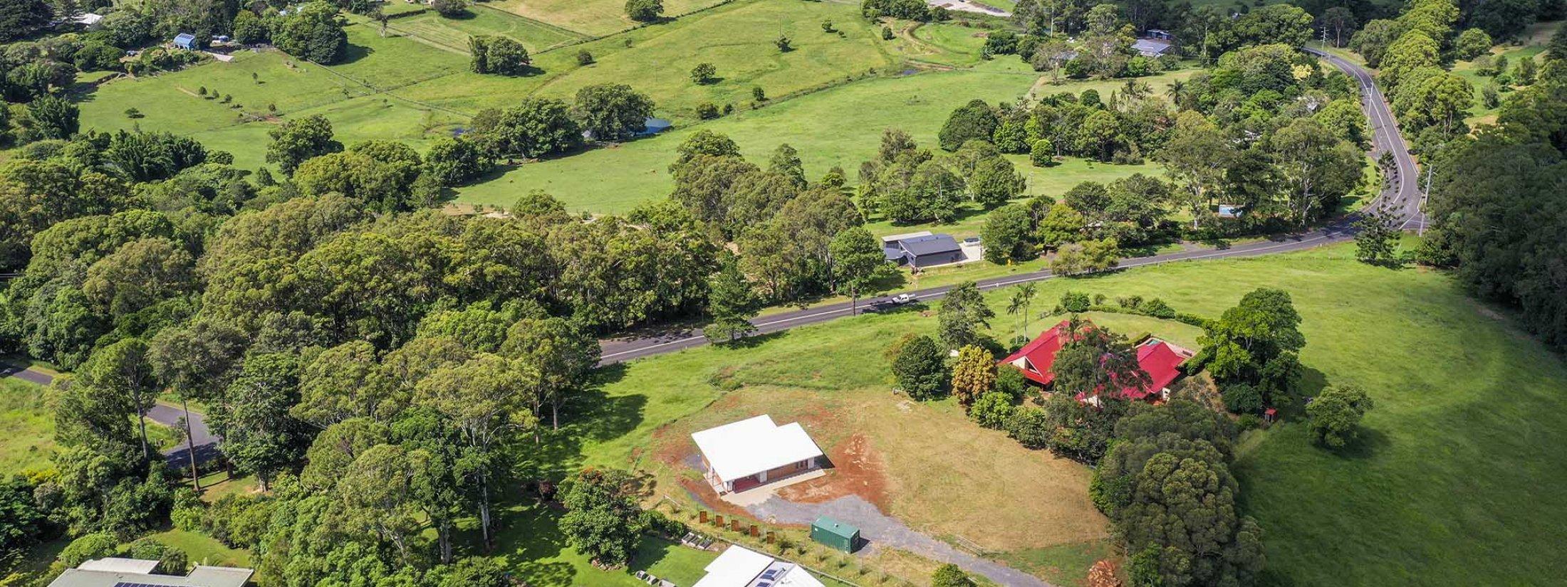 Toad Hall Cottage - Lennox Head - Aerial to NE