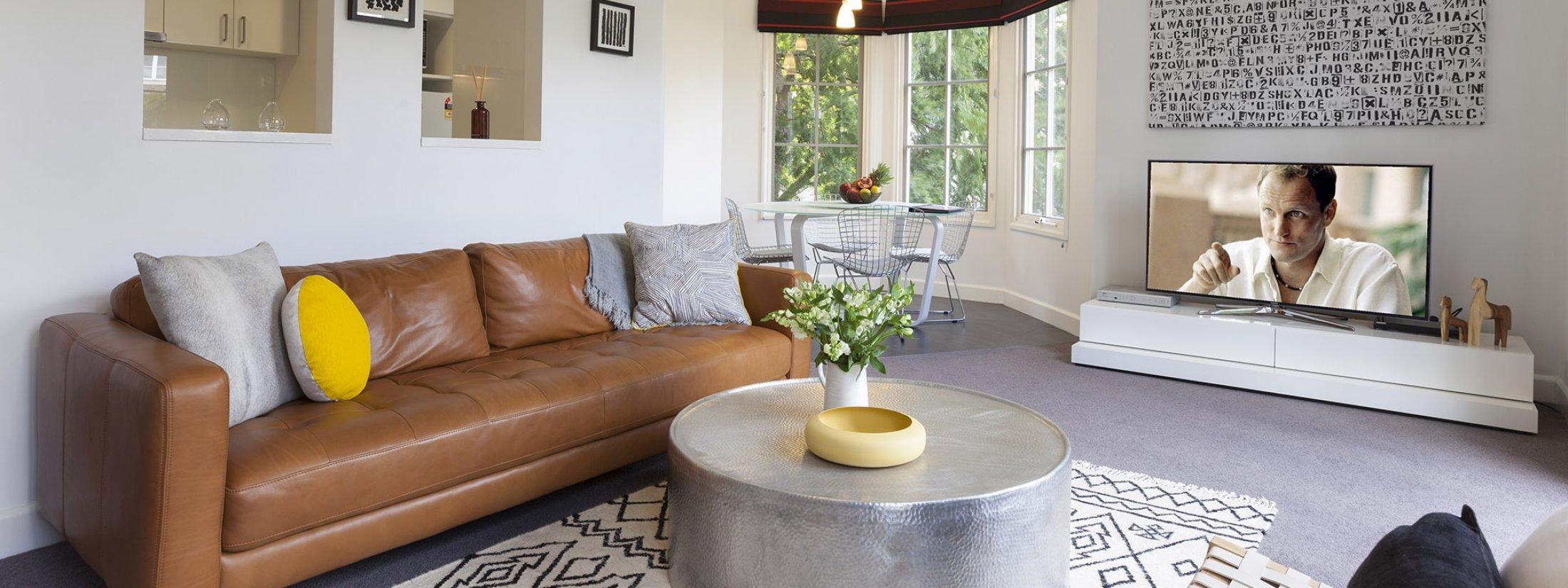 Wellington Mews - East Melbourne - Living Area
