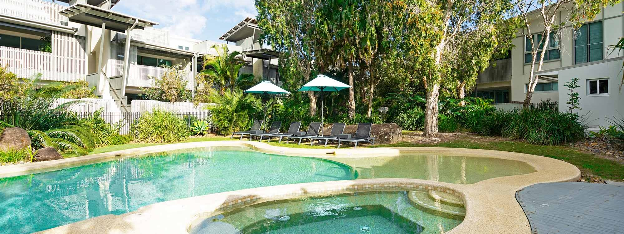 Your Place at Belongil Beach - Byron Bay - Pool and Spa in Complex