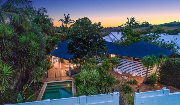 Bangalow Palms - Byron Bay - Aerial Shot h