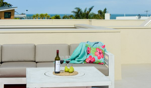 Hampton Lookout - Hampton - Roof Deck Couch and Centre Table.